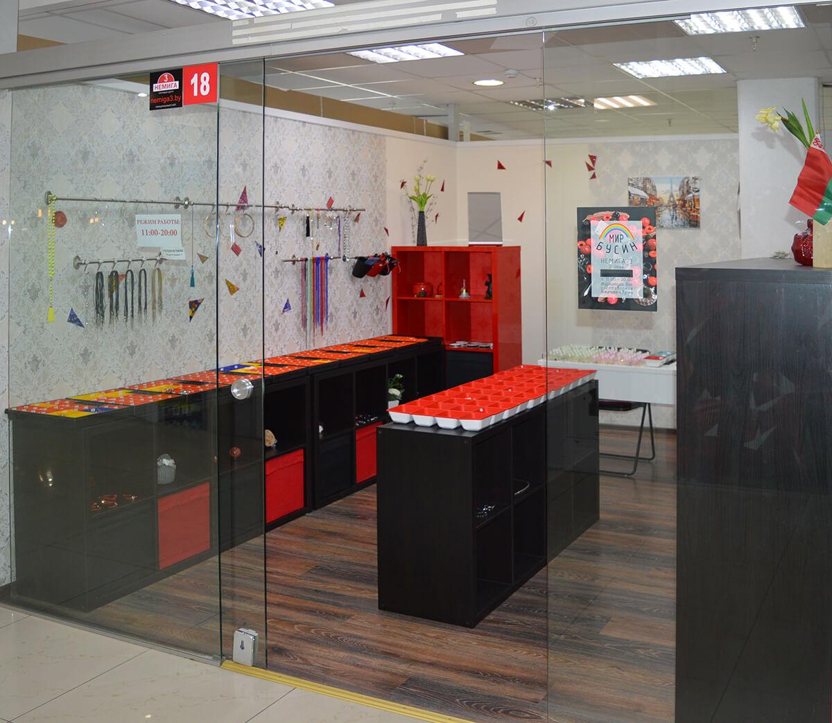 Магазин «Мир Бусин» на 2-м этаже в павильон №18